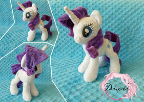 Rarity Plushie - Commission by DixieRarity