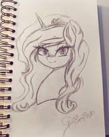 [Sketch] Princess Dixie by DixieRarity