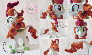 Singing Autumn Blaze - Plushie [Comission] by DixieRarity