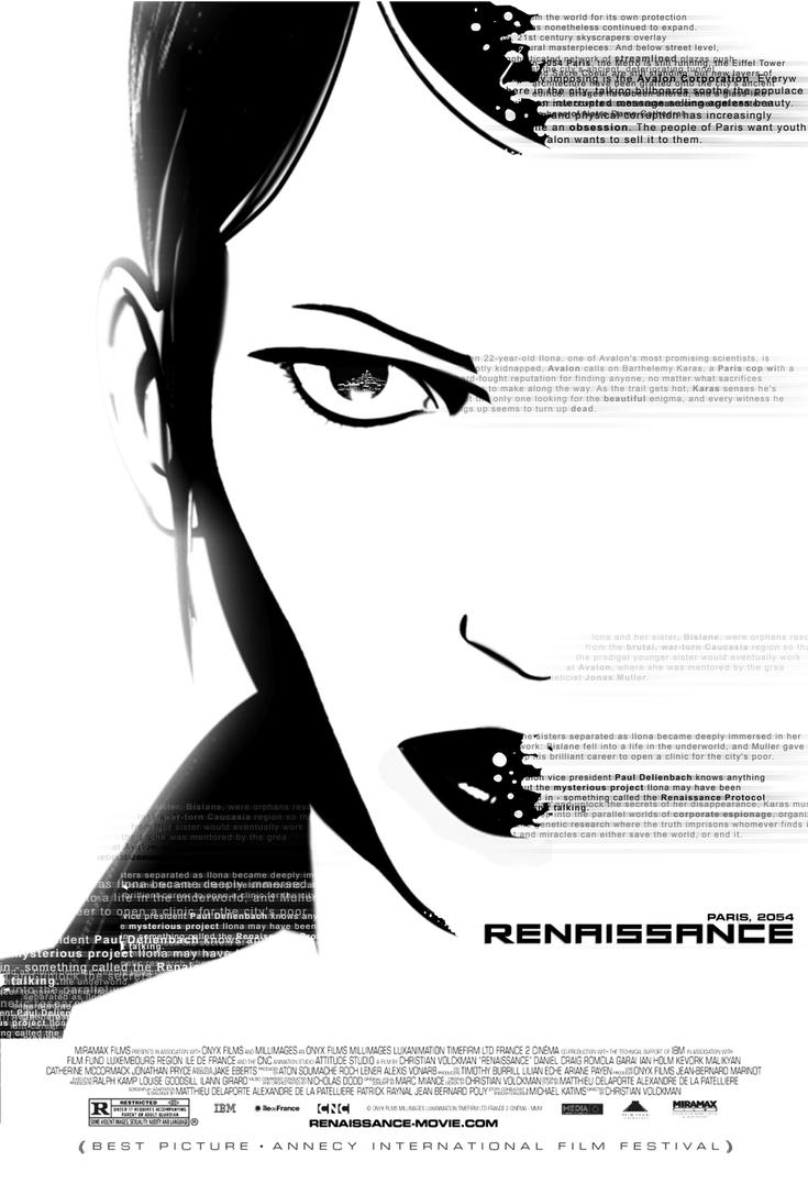 Renaissance - movie poster by Malach