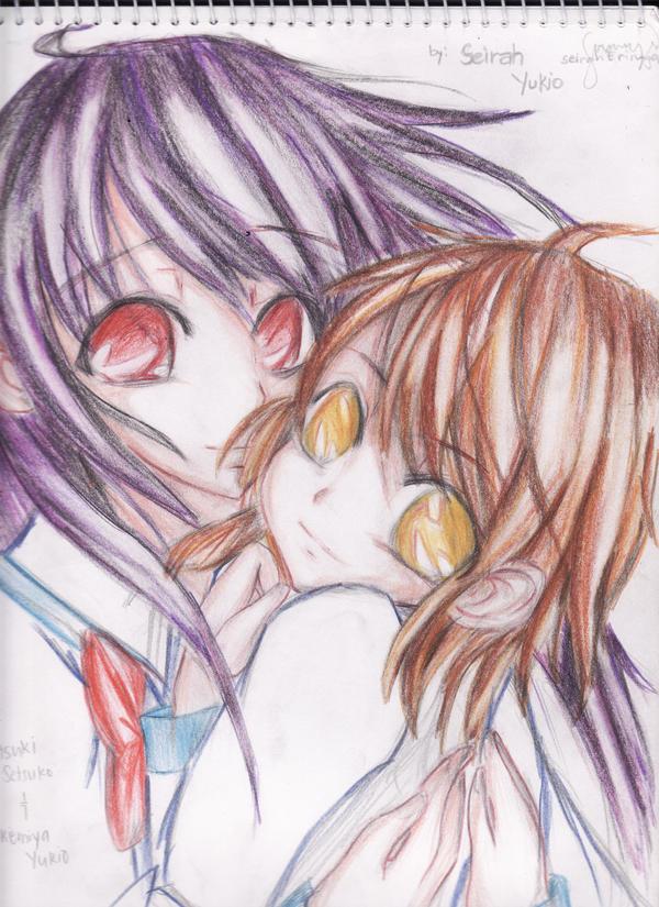 MANGA_Setsuko and Akemiya by huntervisa