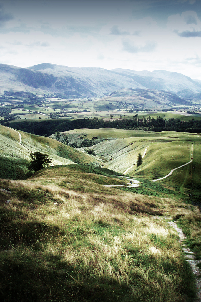 Skiddaw Foot Paths, England.