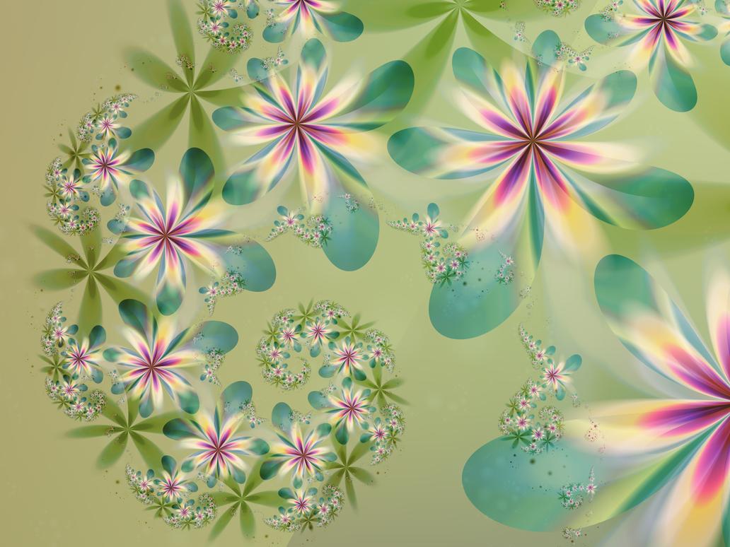 Spring Flower Garland by VBmonkey26