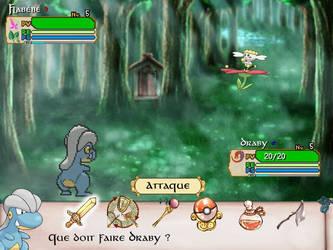 Combat Bagon VS Flabebe on Sacred Phoenix by Anarlaurendil