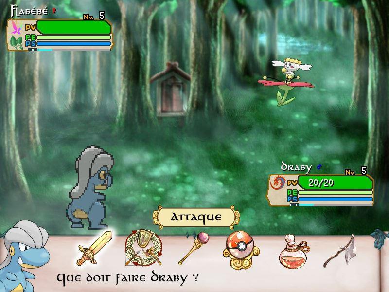 Combat Bagon VS Flabebe on Sacred Phoenix