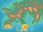 Beyond Kalos - Topographic map of Keltios
