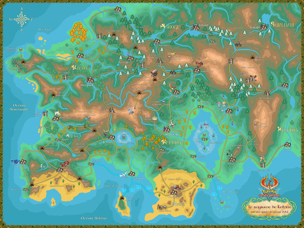 World map of Keltios - Pokemon Sacred Phoenix by ...