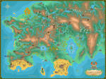 World map of Keltios - Pokemon Sacred Phoenix by Anarlaurendil