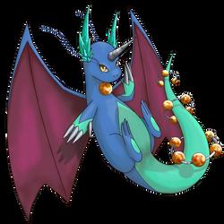 Mega Dragonite Shiny by Anarlaurendil