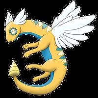 Seragon - Dunsparce final evolution by Anarlaurendil