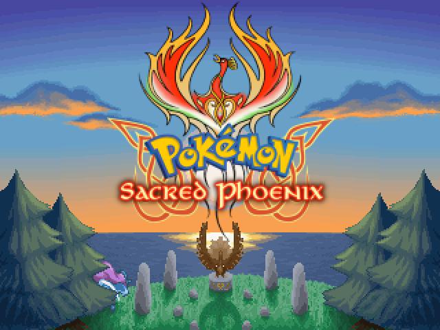 Title Screen of Pokemon Sacred Phoenix by Anarlaurendil