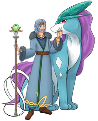 Suicune and the Mythical King Oromis