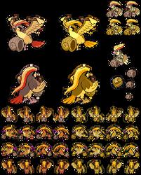 Pidgeot and the Helix Fossil (Bird Jesus) - sprite