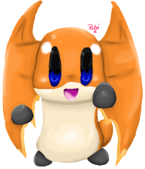 Patamon in my cute style x3 by AquaPatamon