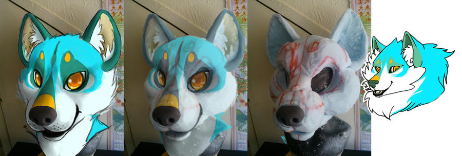 Skull Canine Fursuit Head By Therealurubabe – Dibujos Para Colorear