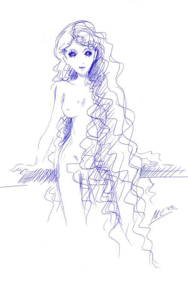 Displaying (19) Gallery Images For Anime Mermaid Sketches...