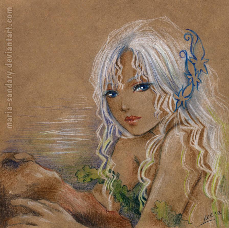 the little mermaid by Maria-Sandary