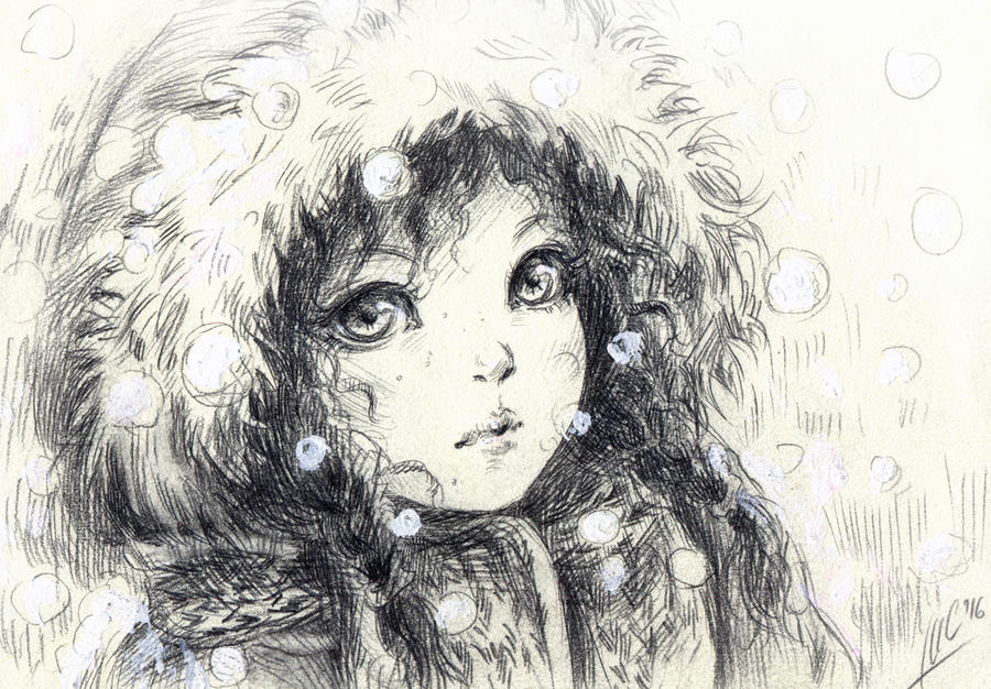 snowfall by Maria-Sandary