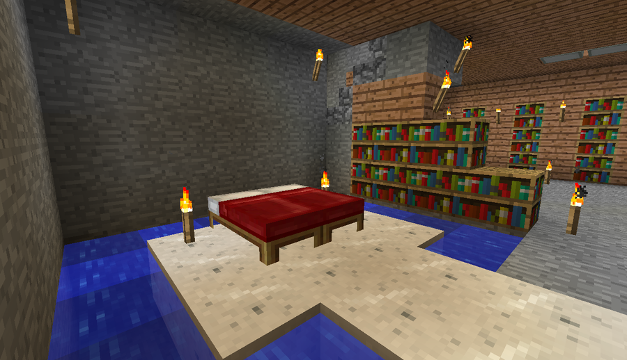 Living room minecraft folat for A living room in minecraft