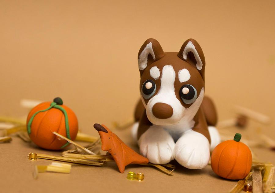 Pumpkin Husky 02 by SculpyPups