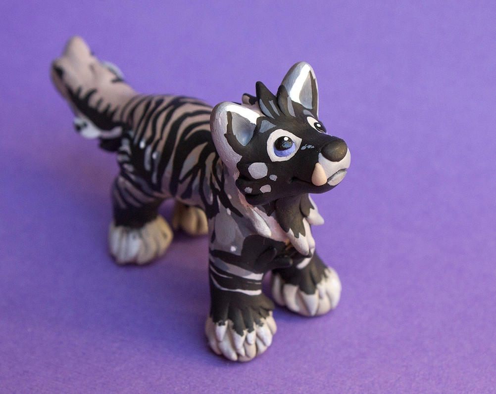 Wolf sculpture commission for Amber by SculptedPups