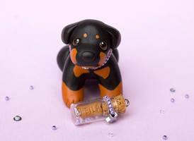Sheila Rottweiler dog sculpture by SculptedPups