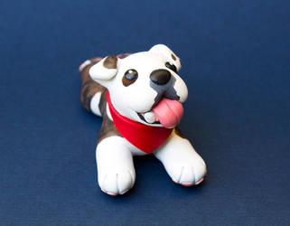 Bogie the bulldog sculpture by SculptedPups