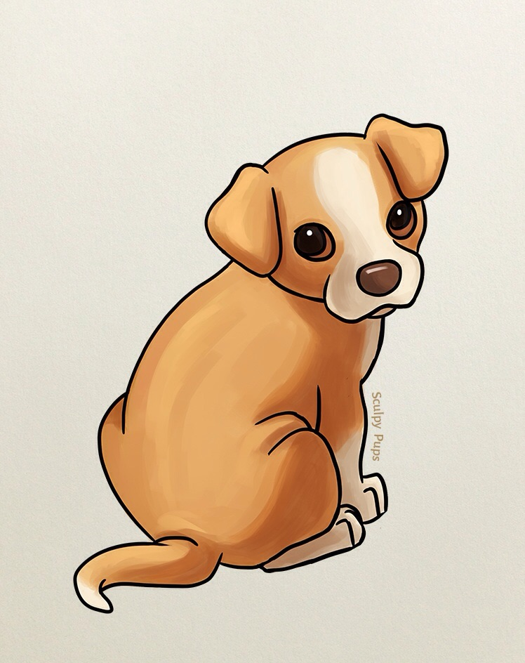 Cute puppy drawing by SculptedPups on DeviantArt
