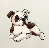Bulldog Pup Drawing by SculptedPups