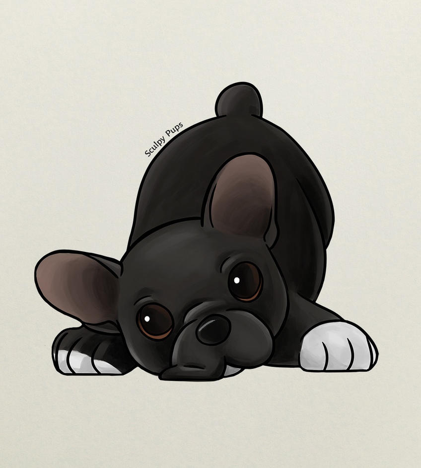 French Bulldog puppy drawing by SculpyPups