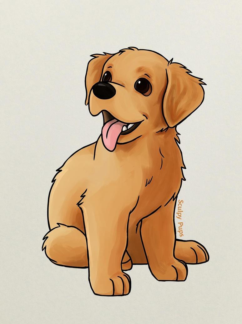 puppy drawing. Golden Retriever puppy drawing by SculptedPups  on DeviantArt