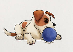 Jack Russell Terrier pup drawing by SculptedPups