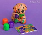 Artistic Golden Retriever pup