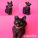 Lexie black cat sculpture commission