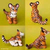 Tiger cub sculpture commission by SculptedPups