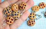 Miniature polymer clay pie charms