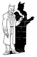 Blacksad sketch by LucaGiorgi