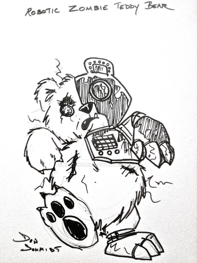 Robotic Zombie Teddy Bear By Bujinkomix On Deviantart