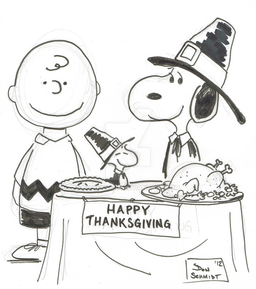 peanuts coloring pages thanksgiving - photo#7
