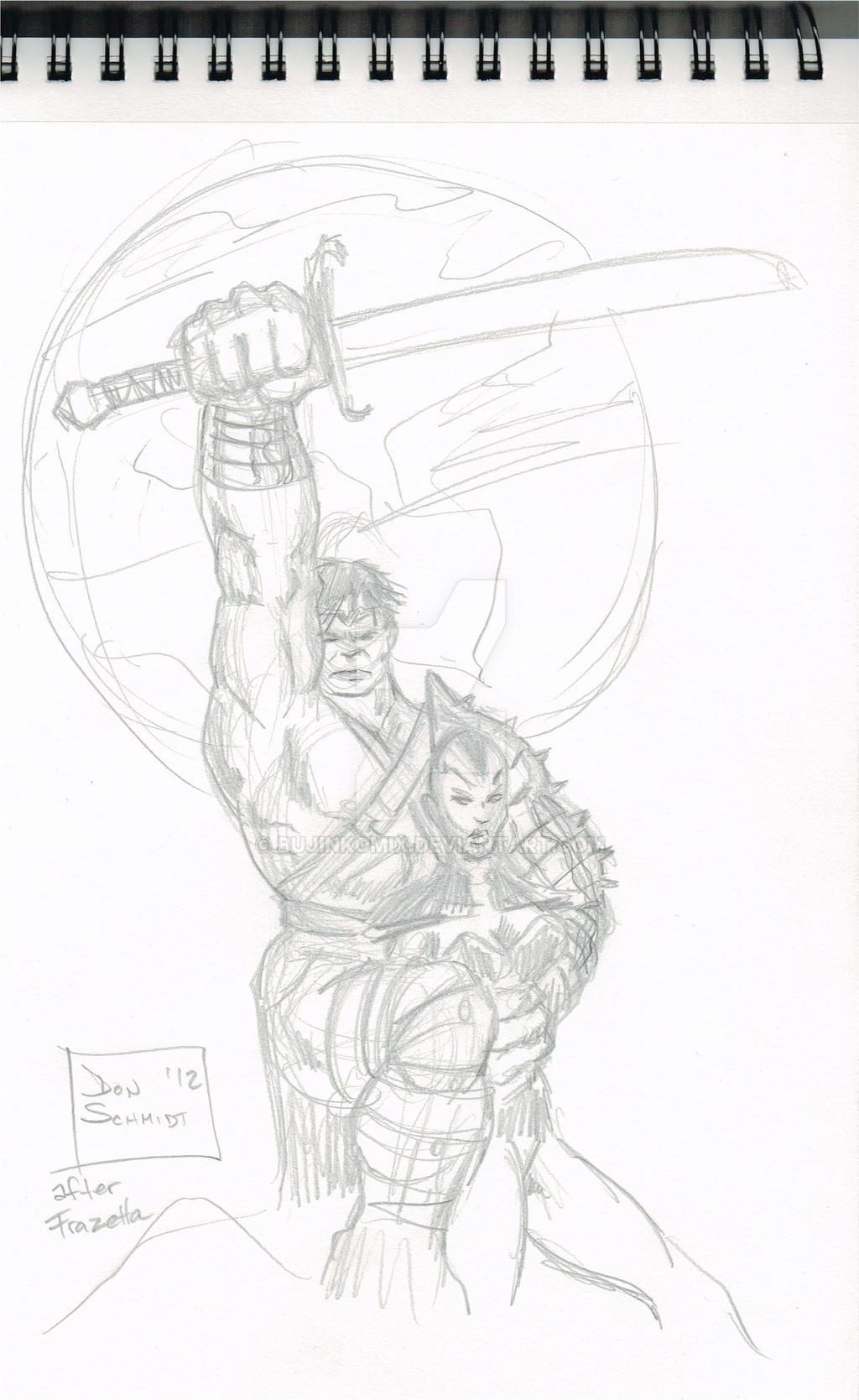 2012-12-12-DSC - World War Hulk Frazetta Homage