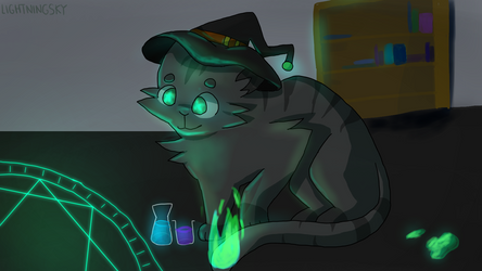 Witch Cat (Commission)