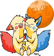 New little fox pups by Kitsunesprite