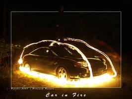car in fire by dkraner