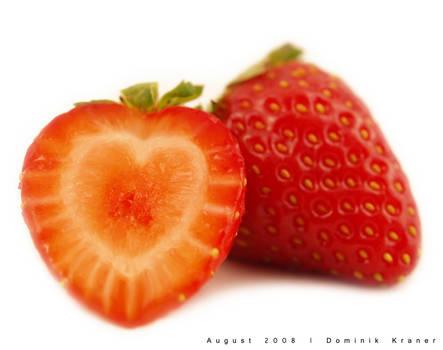 heart-shaped strawberry