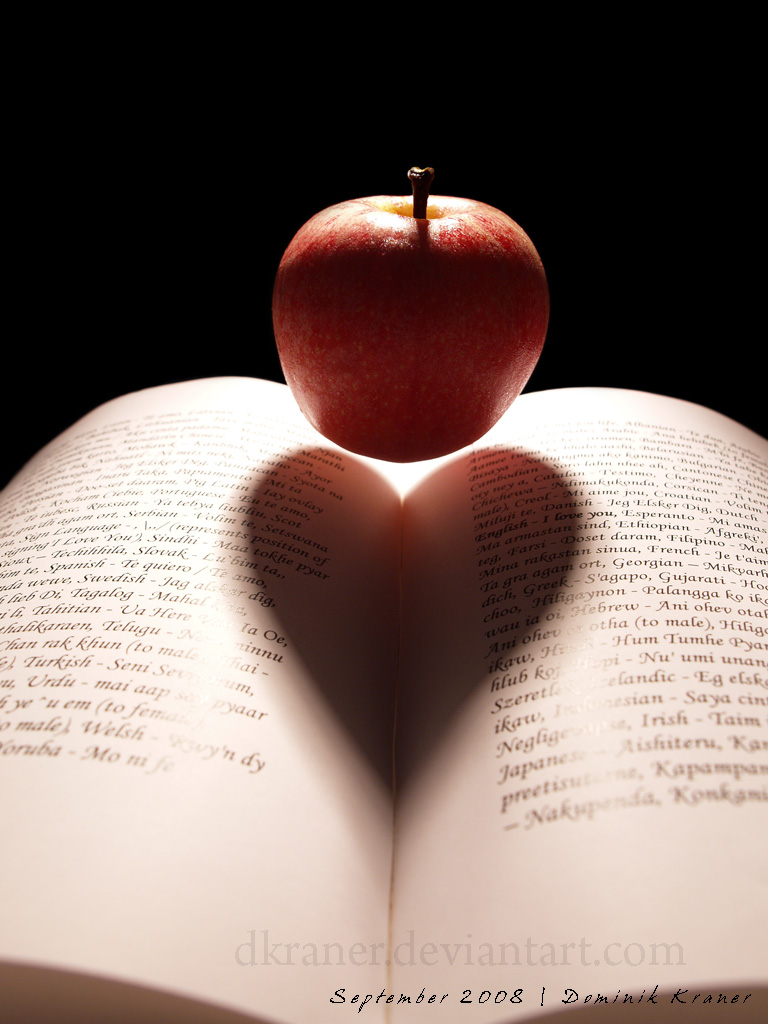 apple book heart by dkraner