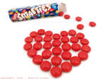 chocolate heart - smarties