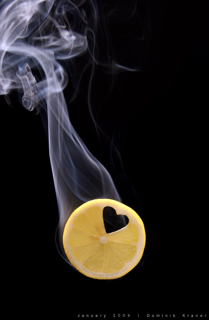 lemon smoke heart