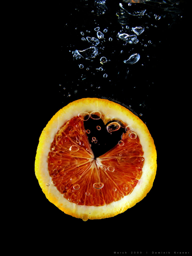 diving blood orange by dkraner