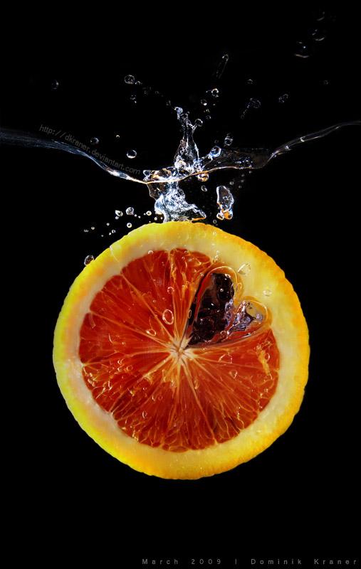 blood orange splashing by dkraner