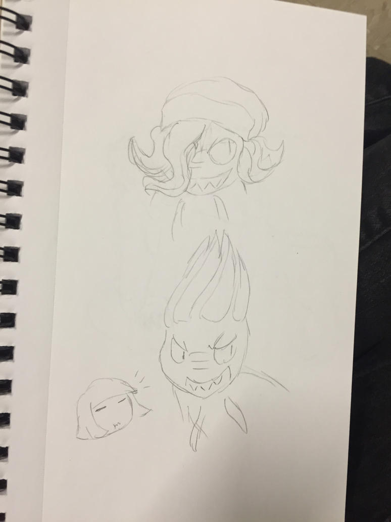Doodles of drill hair by MyDoggyCatMadi